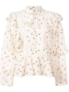 блузка с цветочным рисунком и оборками Sea