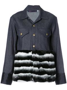 куртка с контрастным подолом Harvey Faircloth