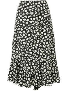 юбка с принтом и оборкой  Proenza Schouler
