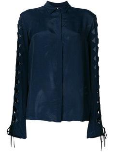 рубашка с резным узором на рукавах Just Cavalli