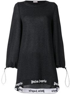 платье-свитер с принтом-логотипом  Palm Angels