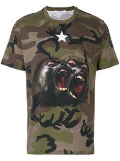 футболка с камуфляжным принтом Monkey Brothers Givenchy