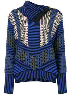 асимметричный свитер с узором  Peter Pilotto