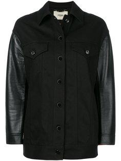 джинсовая куртка с вышивкой Karlito Fendi