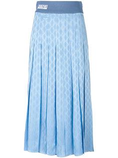 плиссированная юбка с геометрическим принтом Fendi