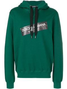 толстовка с капюшоном и логотипом  Dolce & Gabbana