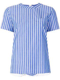 рубашка в полоску с молнией на спине Sacai