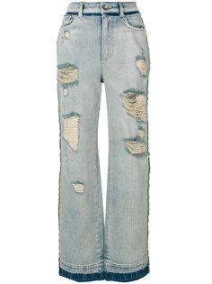 широкие джинсы с рваным эффектом Dolce & Gabbana