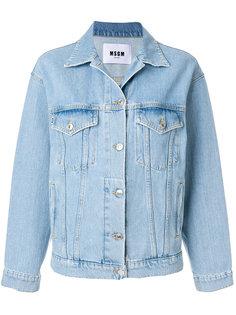 джинсовая куртка с заплатками с логотипом MSGM