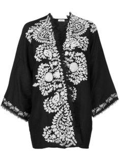 пиджак-кимоно с контрастной вышивкой  P.A.R.O.S.H.