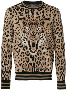 толстовка  с леопардовым принтом Dolce & Gabbana
