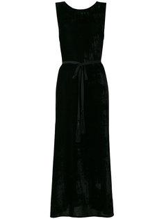 длинное вельветовое платье  Ann Demeulemeester
