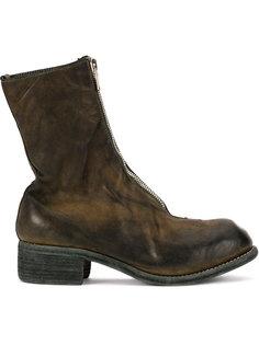 ботинки с потертой отделкой Guidi