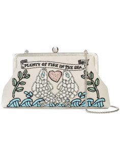 Plenty Of Fish embroidered clutch Sarah's Bag