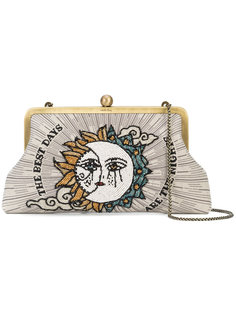 Sun and Moon embroidered clutch Sarah's Bag