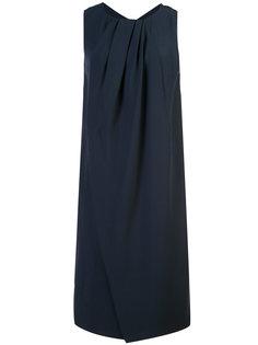 платье длины миди с драпировками у шеи Emporio Armani