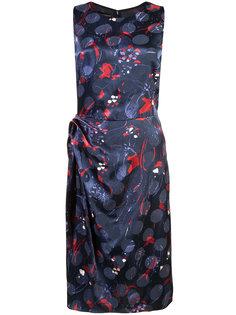 платье длины миди с абстрактным рисунком Emporio Armani