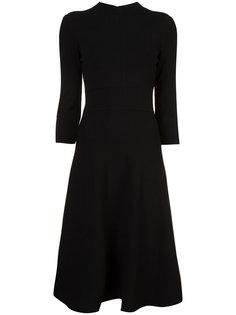 приталенное платье с расклешенной юбкой-миди Emporio Armani