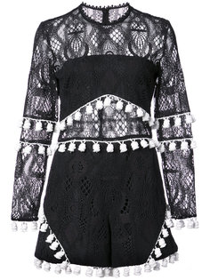 lace and tassel playsuit Alexis