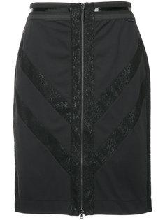 юбка на молнии с зигзагообразной отделкой Marc Cain