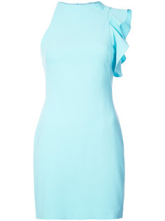 асимметричное мини-платье с оборкой  Black Halo