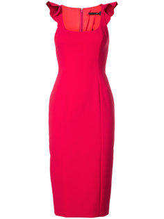 платье-миди на лямках с оборками Jay Godfrey