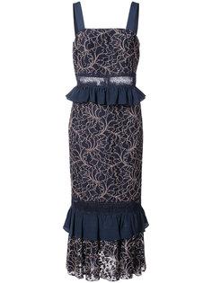 платье-миди Essensa с кружевной отделкой Jay Godfrey