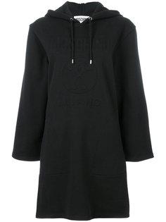 платье-толстовка с капюшоном  Moschino