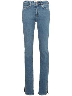 джинсы клеш с разрезами  Simon Miller