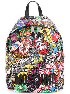 стеганый рюкзак с нашивкой логотипа Moschino