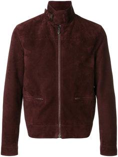 замшевая байкерская куртка Bottega Veneta