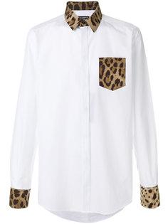 рубашка с леопардовым принтом на кармане Dolce & Gabbana