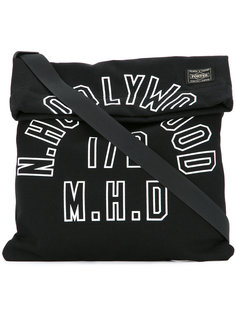 logo print shoulder bag N. Hoolywood