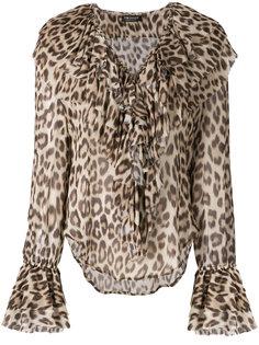 блузка с леопардовым принтом Twin-Set
