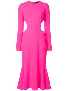 расклешенное платье-миди David Koma