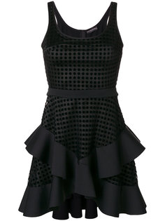короткое платье с оборками David Koma