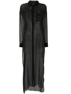 длинная прозрачная блузка в горох Alexandre Vauthier