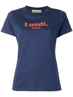 футболка с надписью Lundi Jour/Né