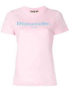 футболка с логотипом Dimanche Jour/Né