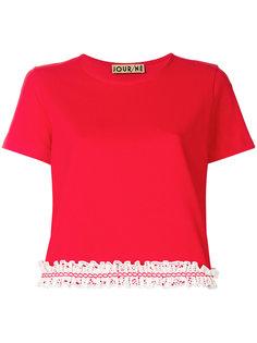укороченная футболка с кружевной отделкой  Jour/Né