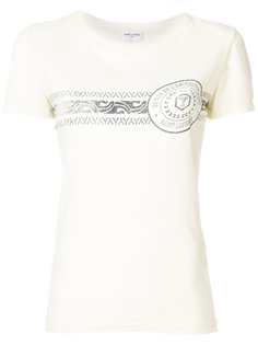 футболка с нашивкой логотипа Saint Laurent