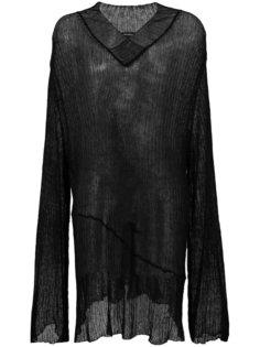 длинный свитер в рубчик  Ann Demeulemeester