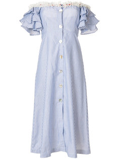 платье с кружевной отделкой и открытыми плечами  Jour/Né