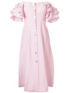 расклешенное платье в полоску с открытыми плечами  Jour/Né
