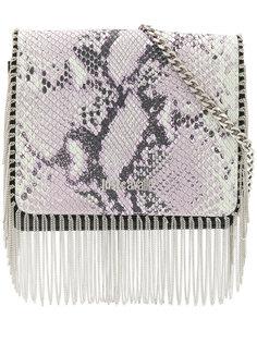 сумка через плечо со змеиным эффектом Just Cavalli