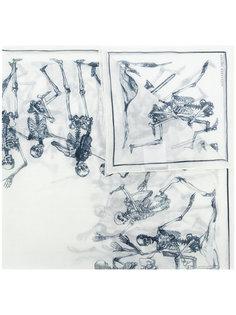 шарф Dancing Skeleton Alexander McQueen