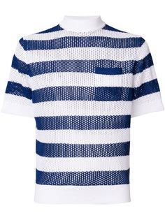 трикотажная футболка в полоску  Prada