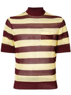 трикотажный свитер в полоску  Prada