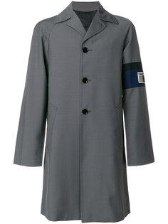 длинное пальто милитари  Prada