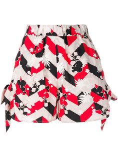шорты с цветочным принтом Maison Kitsuné